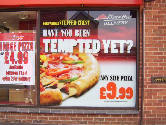 Pizza Hut Window