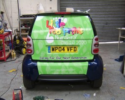 Little Footprints Nursery Vehicle Wrap