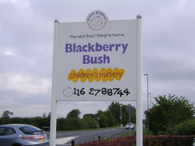 Blackberry Bush Nursery Post Fixed Sign
