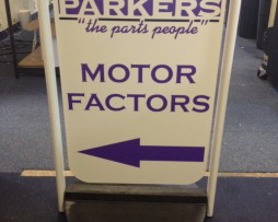 Parkers Pavement Sign