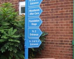 Riverside Primary School Post Fixed Sign