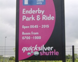 Enderby Park & Ride Post Fixed Sign