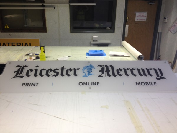 Leicester Mercury Sign