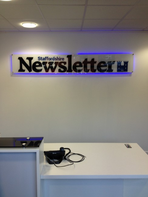 Staffordshire Newsletter Illuminated Sign