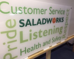Salad Works Sign