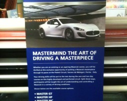 Maserati Pop Up Stand