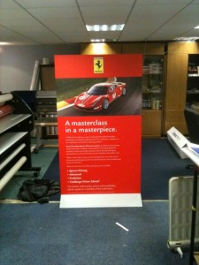 Ferrari Masterclass Sign Pop Up Display