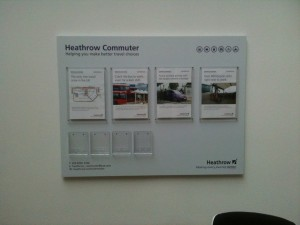 Heathrow Commuter Wall Sign