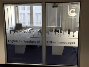 Leicester College Window