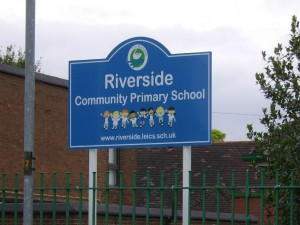 Riverside Primary School Post Fixed Sign