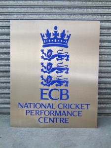 National Cricket Performance Centre Sign