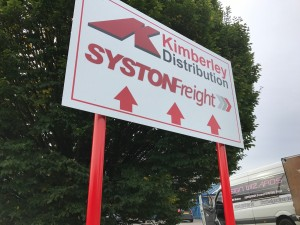 Syston Freight Post sign