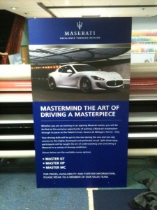 Maserati Pop Up Display