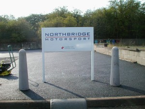 North Bridge Post Fixed Sign